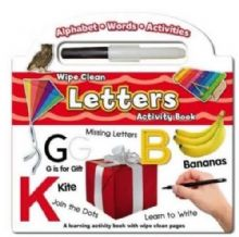Wipe Clean Learning Activity Book Letters with Pen